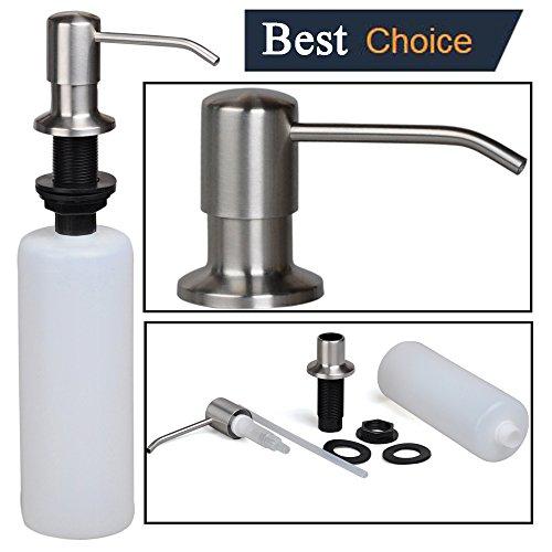Stainless steel built in pump kitchen sink dish soap - Built in soap dispenser in bathroom ...